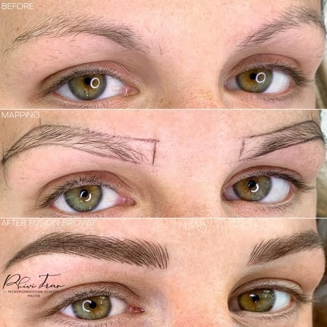 fusion brows treatment before and after