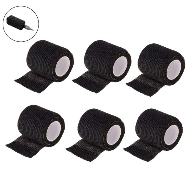Micropigmentation Machine Cover Wrap (6 rolls – black)